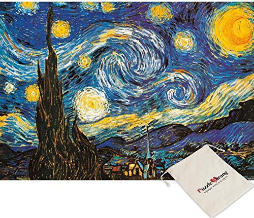 Starry Night-Vincent Van Gogh-108 Mini Puzzels [Inclusief Pouch]