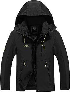 LUI SUI Men's Waterproof Jacket Outdoor Sports Hiking Mountaineering Coat Lightweight Camping Windproof Raincoat