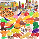 MGparty 160PCS Pretend Play Food Set Play Kitchen Set for Kids Toddlers Toys , Kitchen Accessories, Party Favor Christmas Stocking