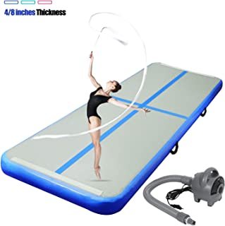 ChampionPlus 10ft 13ft 16ft 20ft Air Track Tumbling Mat Inflatable Gymnastics Mat 4/8 Inches Thickness Airtrack Mats for Home Training Cheerleading Yoga Water