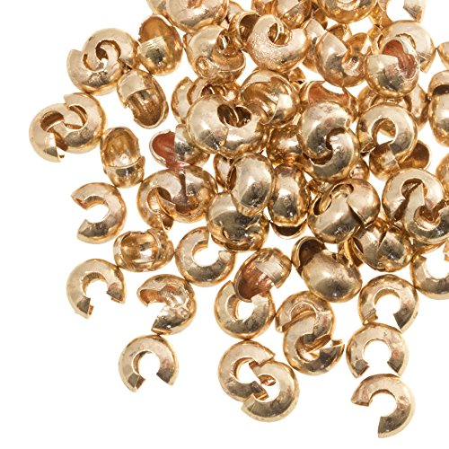 Dreambeads Online - Perlas de bisutería (5 mm, 25 Unidades), Color Dorado