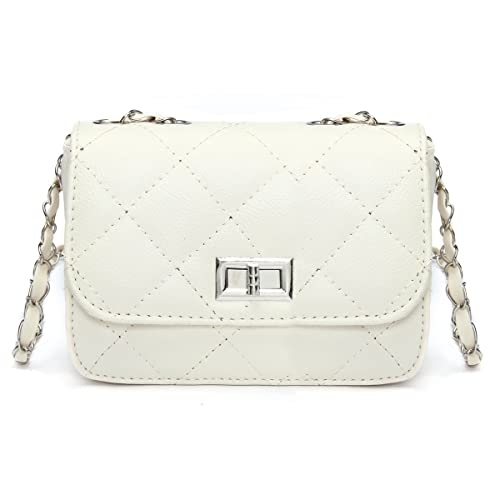 Quilted White Leather Handbags: Amazon.com