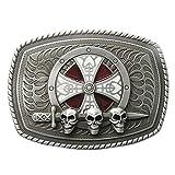 Urban Backwoods Skull & Sword & Shield I Hebillas de cinturón Belt Buckle