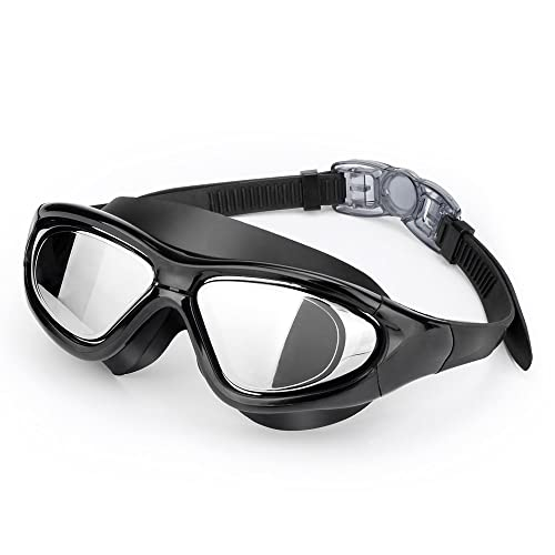 7bb5a314e89 EveShine Premium Big Frame Competition Swim Goggles with Free Protective  Case Pro Clear Lens   Wide