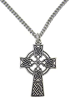 Expressions of Faith Antiqued Pewter Celtic Irish Christian Cross Pendant, 1 3/4 Inch