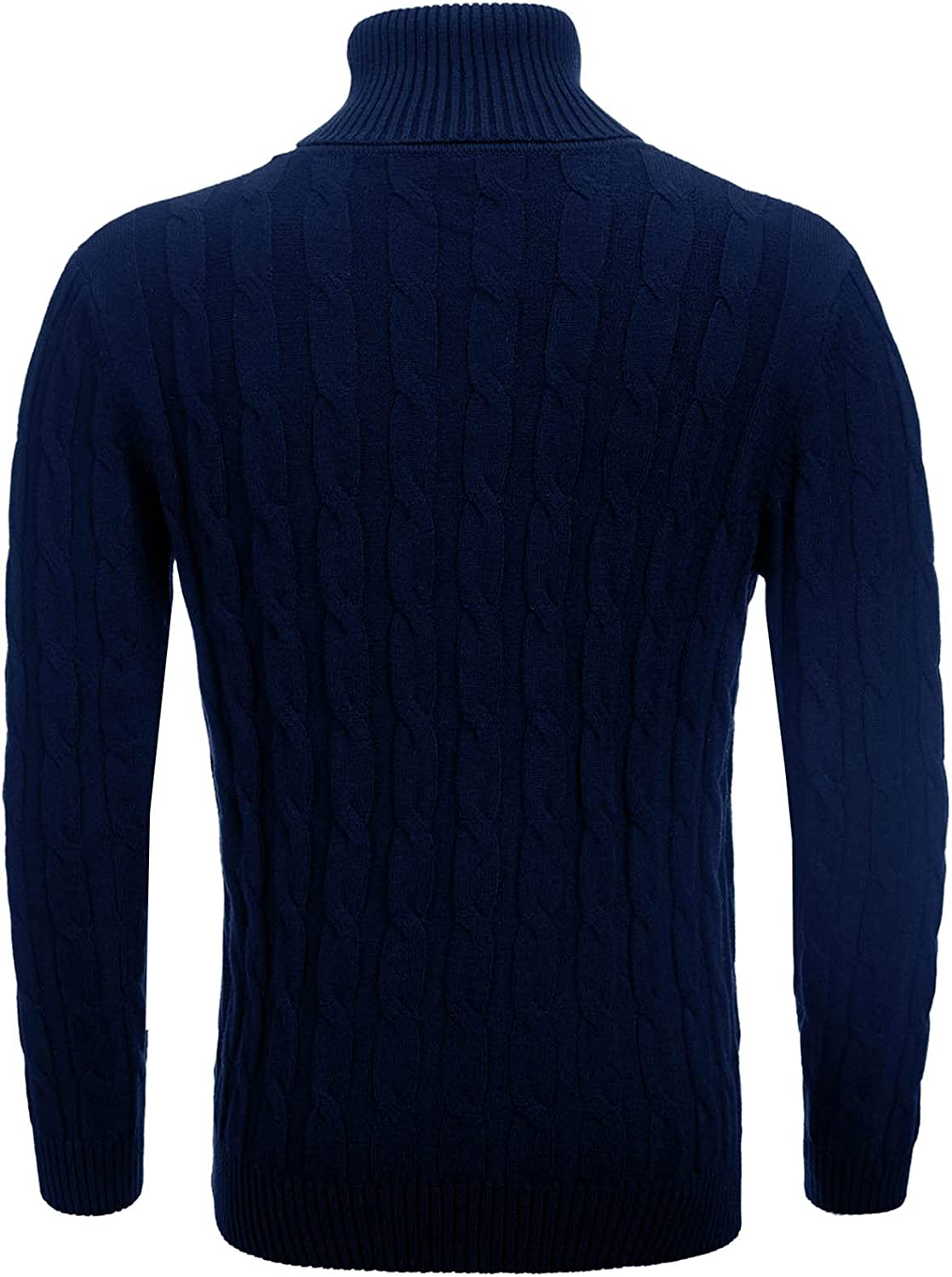 Men Solid Turtleneck Casual Slim Fit Long-Sleeved Tops Fashion Warm Pullover Soft Strench Knitted Sweater