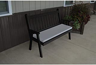 A & L Furniture Co. Yellow Pine 4' Traditional English Garden Bench - Ships Free in 5-7 Business Days
