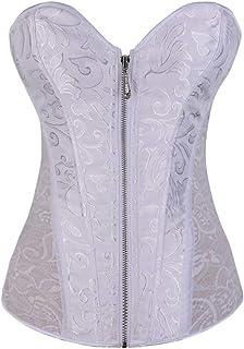 7ed9c445b5429 iYYVV Women Underbust Zipper Bandage Waist Trainer Corsets Shapewear Body  Shaper