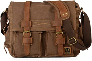 Strong Men Military Messenger Bag Fashion Appearance Shopping Business (Color : Brown, Size : S)