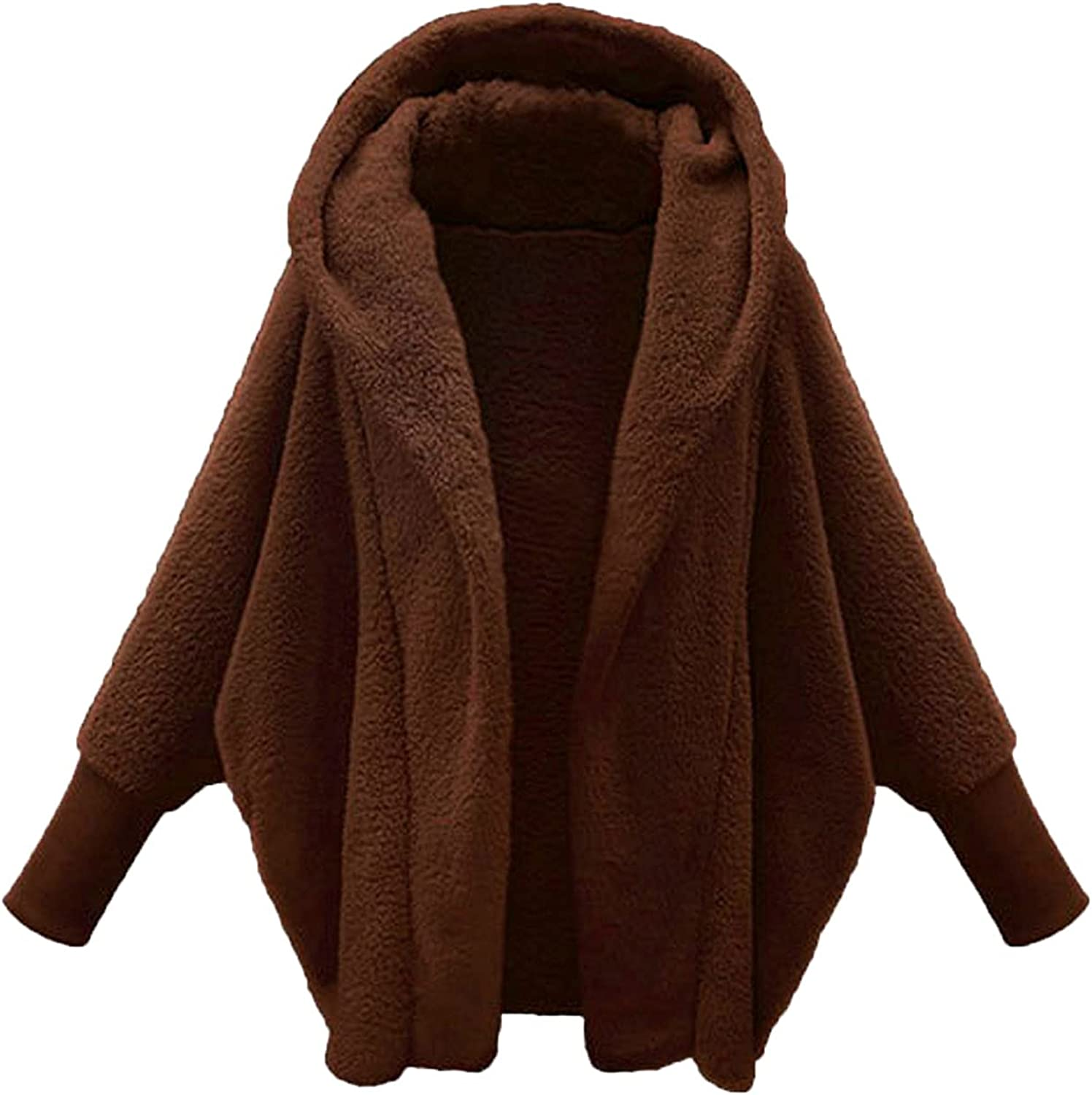 Women's Winter Furry Cardi Tops Hooded Challenge the lowest price Long Ou Outlet SALE Basic Sleeve