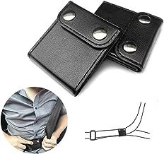 ILIVABLE Seatbelt Adjuster, Comfort Universal Auto Shoulder Neck Strap Positioner Clips, Vehicle Seat Belt Covers (2 Pack, Black)