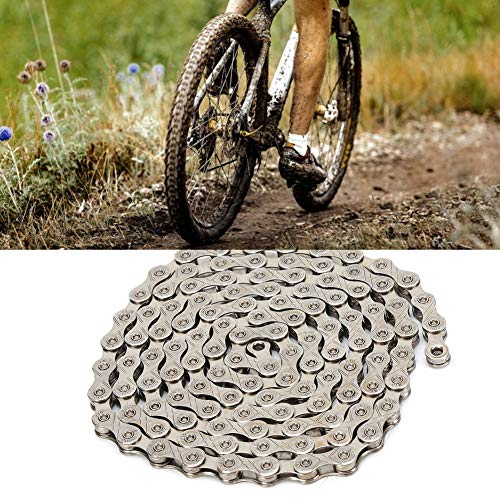 HelloCreate Bike Chain, Mountain Bike Chain Stainless Steel Anti-Rust Accessory for 10/30 Speed Bicycles