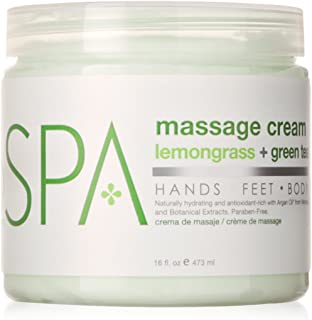 BCL SPA Massage Cream Lemongrass + Green Tea,16 oz