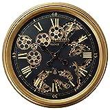 グリーンハウス(Green house) 時計 大人の掛け時計 4433 丸型 ゼンマイ仕掛け風