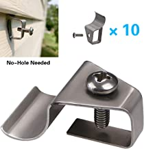 Address Plaques Hanger for Vinyl Siding, No-Hole Needed Outdoor House Number Signs Screws Clips