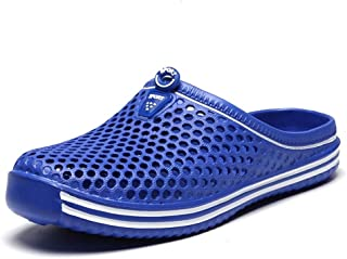 YINJIESHANGMAO Men's Outdoor beach shower slippers toe water shoes slip lightweight breathable wicking men's slippers Men's shoes (Color : Light Blue, Size : 42 EU)