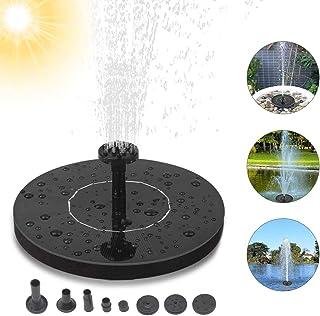 Solar Fountain, Solar Fuente Bomba, Fuente Solar, 1.4W Fuente Solar Jardín Solar Panel Flotador Fuente,Kit de Bomba Sumergible para el Aire Libre Baño de Aves, Estanque, Piscina, Patio