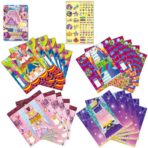 Aikatsu! Card with fashion letter LOVE QUEEN & MAGICAL TOY set (japan import)
