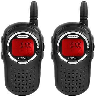 JAJA JJ-210 Mini Walkie Talkies for Kids Gift Toys for Girls Boys FRS Two Way Radios Long Range 22 Channel 38 CTCSS 83 DCS Alarm Clock (2 Pack)