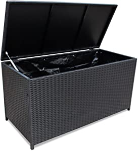 Alek...Shop Container Outdoor Storage Poly Rattan Entryway Chest Bench Garden Box Patio Pool Deck Bench Organizer