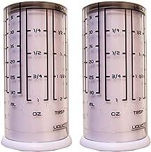 Kitchenart Adjustable Measuring Cups 2 Pack - for Liquid Dry Semi-Solid Adjustable Measuring Cups Plastic