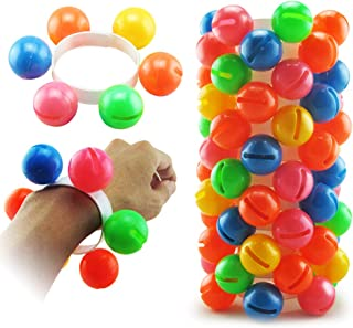 Anniston Kids Toys, Colorful Plastic Hand Foot Ball Rattle Toy Sound Bracelet Kindergarten Kids Gift Baby Toys for Childre...