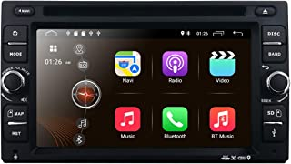 Android 9.0 Car Stereo, Quad Core 16GB+ 2GB Double Din Car DVD CD Player with Bluetooth GPS Navigation 6.2 inch Touch Screen - Support WiFi, MirrorLink, Backup Camera, AUX Input, USB SD, Dash Cam,