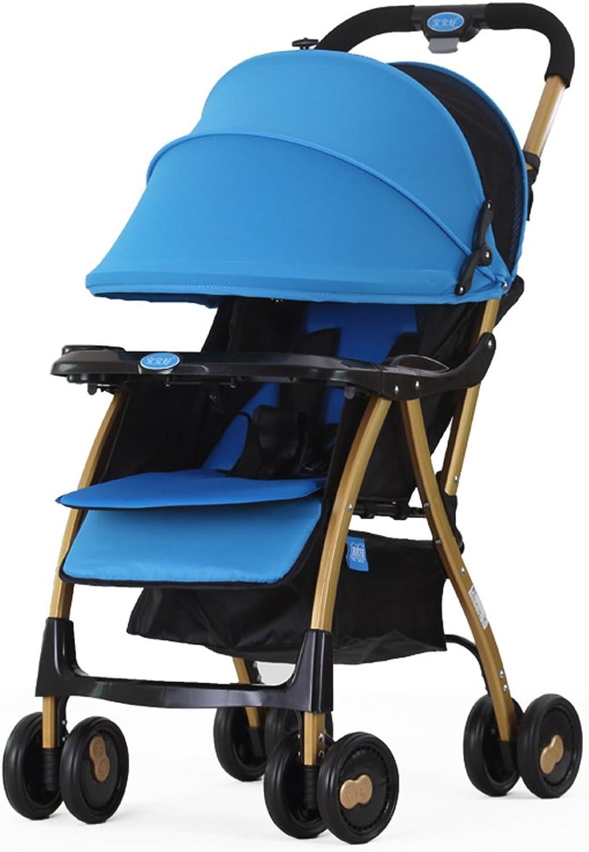presentando toda la última moda de la calle Cochecitos de bebé ultra-ligero plegable puede puede puede sentarse Cocherito de los Niños reclinables paraguas (púrpura) (azul) 65  43  87cm ( Color   azul )  el mas de moda