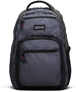 Reaction Kenneth Cole Double Gusset Laptop Backpack In Gray - Men's - Charcoal