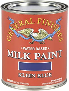 General Finishes QK Water Based Milk Paint, 1 Quart, Klein Blue