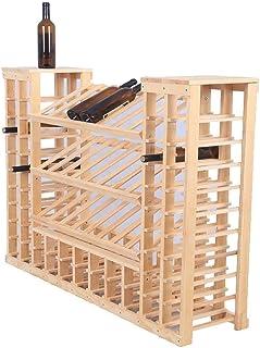 Casier à vin Armoire à vin Cave à vin Vitrine Armoire de partition Présentoir Au sol Étagère de rangement Multifonction Mé...