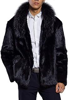 Laisla fashion Giacca Invernale da Uomo Calda Piumino Classiche Cappotto Cappotto Corto con Cappuccio Staccabile Collo in Pelliccia Sintetica Cappotti di Transizione Unici E Accoglienti