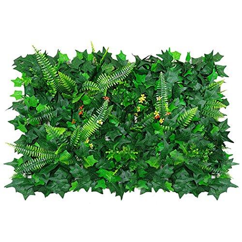 Outgeek Tablero Artificial Planta De Panel Falso Planta Decorativa Verde Artificial De Cobertura para Patio De Jardín