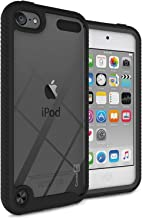 CoverON Heavy Duty Full Body EOS Series for iPod Touch 7th / 6th / 5th Generation Case, Clear Back Black Trim