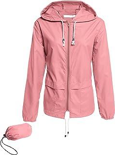 معطف مطر ACEVOG للنساء قابل للطي خفيف الوزن مقاوم للماء سترة واقية من المطر في الهواء الطلق S-XXL
