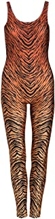 Tiger Brown Unitard Jumpsuit Catsuit Top Playsuit Womens Animal Print Tumblr Fashion Tumblr Festival