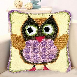 Kits de Crochet de Verrouillage for Adultes débutants Bricolage Main Craft Coussin Oreiller Loquet Crochet Broderie Kit Co...