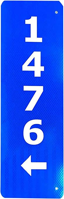 Granite City Graphics Green 911 Sign with Arrows Points Away from The Holes