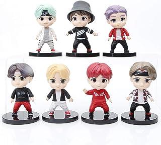 مجموعه اسباب بازی 7 عددی مجموعه شکل BTS مجموعه اسباب بازی برای کیک تاپر BTS مهمانی تأمین کننده