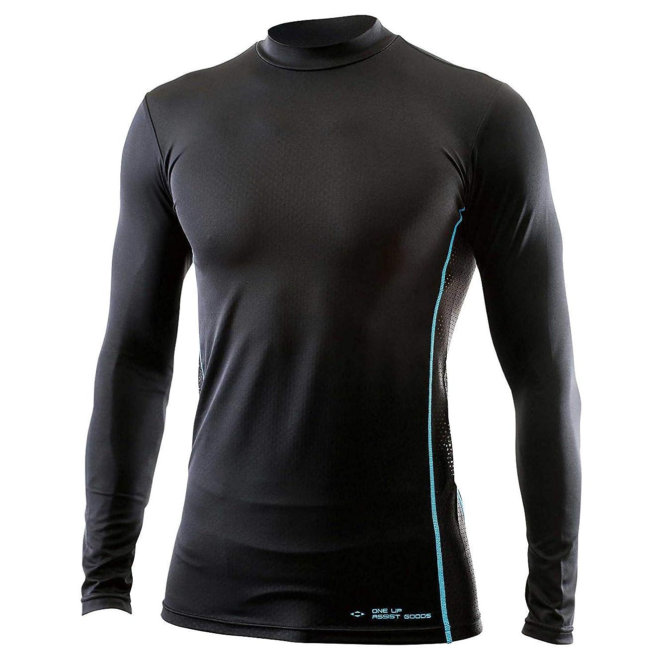 一月メロディーホースSK11 超クールウエア 冷感シャツ 長袖 ハイネック M ブラック 吸水速乾 抗菌 防臭 制菌 ワークサポート