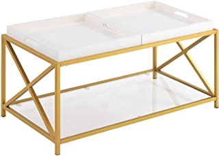 Best white and gold coffee table Reviews