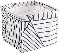 HXSD Desktop Storage Box Bin Closet Toy Basket Cosmetic Makeup Organizer Fabric Printing Waterproof Organizers Home Decor ...
