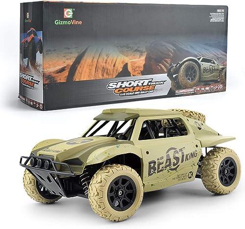 Ferngesteuerte Autos 4WD 1  18  format-Hochgeschwindigkeitsautos mit 15,5 MPH + Racing Rc für Kinder und Erwachsene, Version 2019,Beige