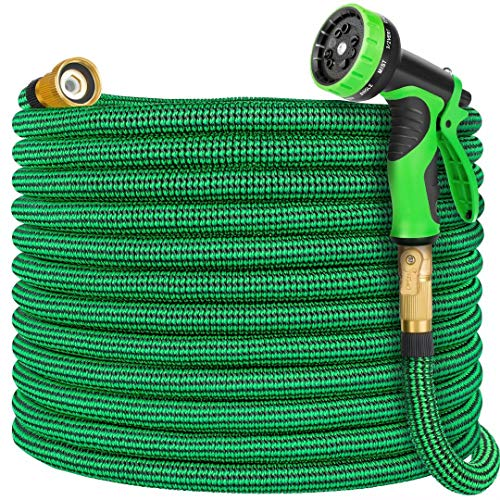 Vezane Garden Hose 100ft, Water Hose with 10 Function Nozzle and Durable 4 Layers Latex, Lightweight Expandable Hose for Garden Watering, No-Kink Flexible Hose for Car Washing…