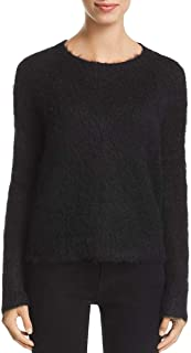 Womens Alpaca Mohair Brushed Pullover Sweater