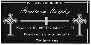 Personalized Custom Cross Personal Memorial Engraved Marble Grave Marker People Memorial Headstone Stone Plaque Garden (12