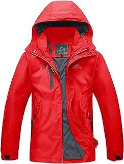 TACVASEN Women's Hooded Windproof Jacket Hiking Mountain Softshell Rain Coat
