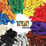 WYSWYG Bloques de Construcción 1000 Piezas Compatible con Todas Las Classic Marcas Incluidos10 Tipos Colores y 14 Formas Ladrillos para Niño de 6 Años Juguetes