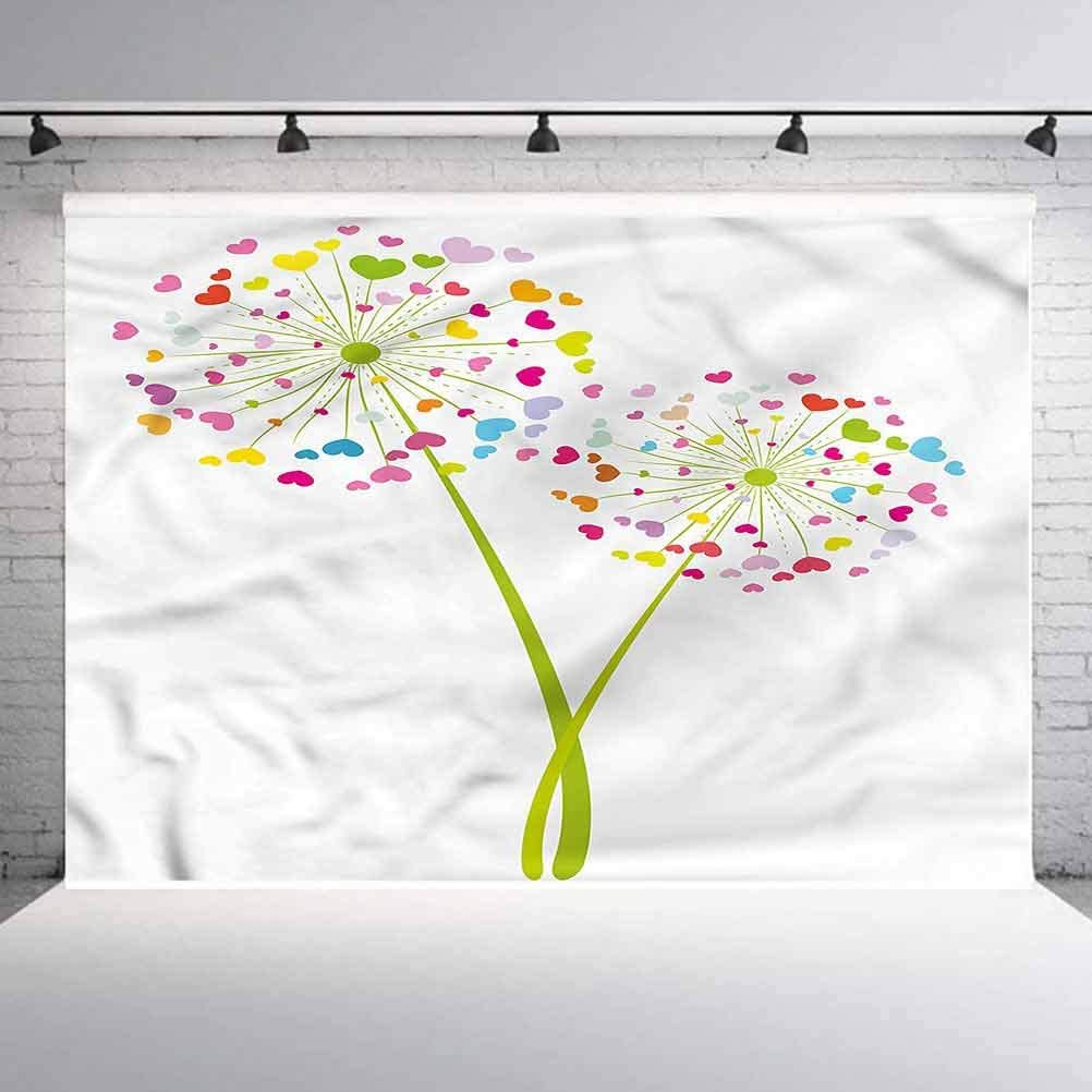 7x7FT Vinyl Photo Backdrops,Flowers with Rounds Photo Background for Photo Booth Studio Props