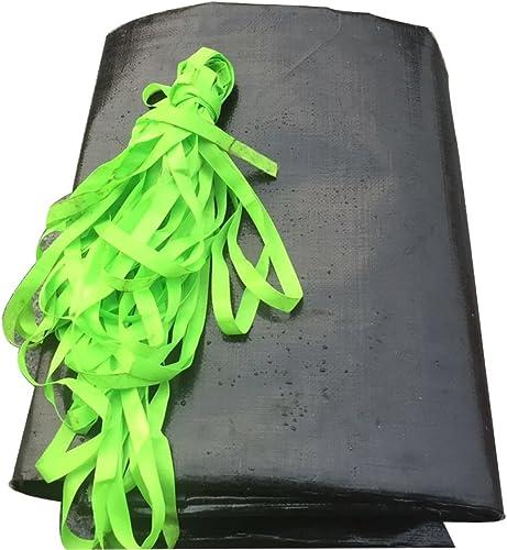 AJZXHE Noir rembourré imperméable à l'eau de bache imperméable à l'eau de bache de Prougeection de bache de Prougeection en Bois de Tissu de bache -Tente
